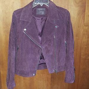 Blank NYC Suede Motorcycle Jacket in Purple